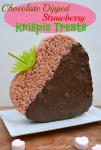 Chocolate Dipped Strawberry Krispie Treats by SweetSimpleStuff