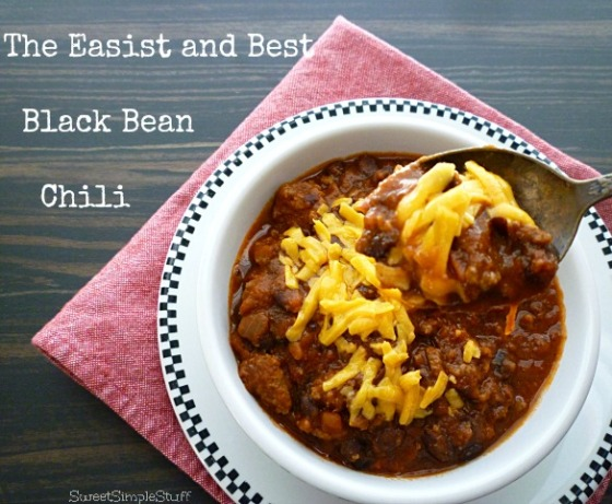 Easiest and Best Black Bean Chili by SweetSimpleStuff