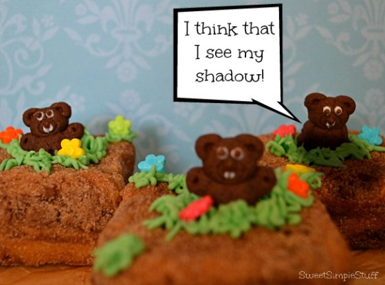 Ground Hog Cake - SweetSimpleStuff