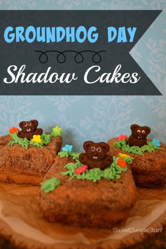 Groundhog Day Shadow Cakes - SweetSimpleStuff