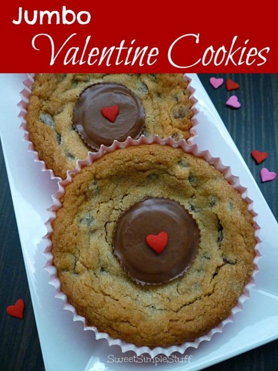 Jumbo Valentine Cookies by SweetSimpleStuff