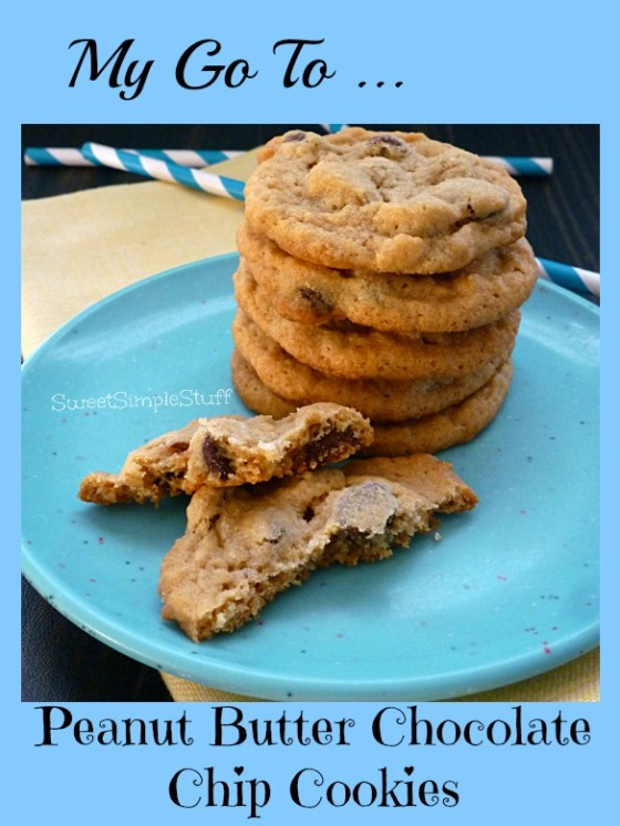 My Go To Peanut Butter Chocolate Chip Cookies - SweetSimpleStuff