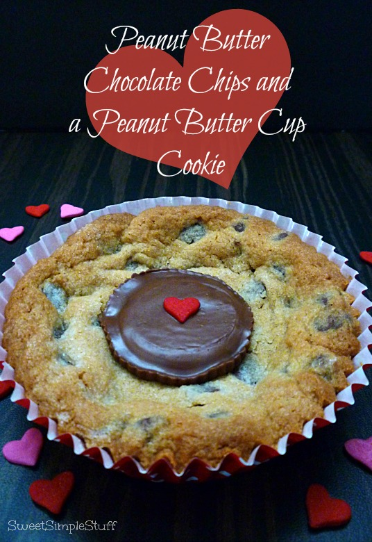 Peanut Butter, Chocolate Chips and a Peanut Butter Cup Cookie - SweetSimpleStuff