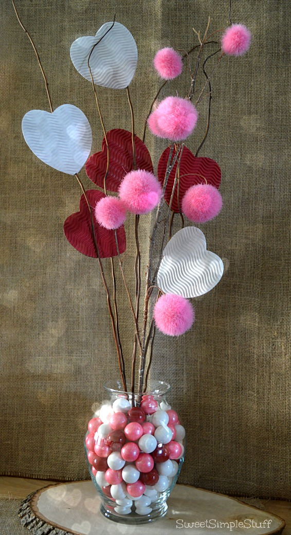 Rustic Quirky Valentine Arrangement By SweetSimpleStuff