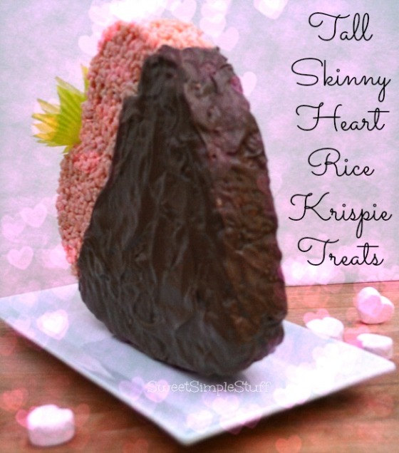 Tall Skinny Heart Rice Krispie Treats by SweetSimpleStuff