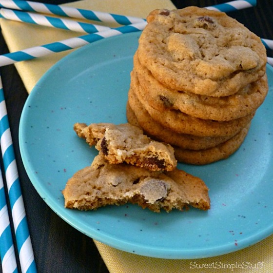The Best Chocolate Chip Peanut Butter Cookies - SweetSimpleStuff