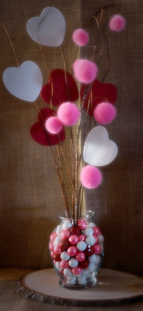 Valentine's Day Gumball Centerpiece by SweetSimpleStuff