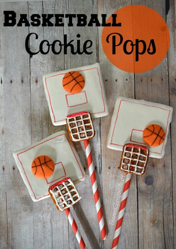 Basketball Cookie Pops by SweetSimpleStuff