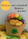 Gold and a Gumball Rainbow in a box by SweetSimpleStuff