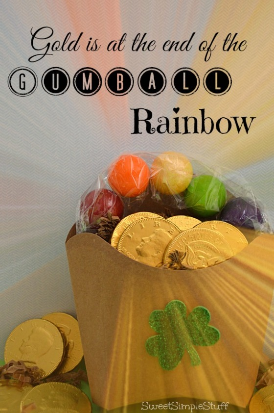 Gold at the end of Gumball Rainbow by SweetSimpleStuff