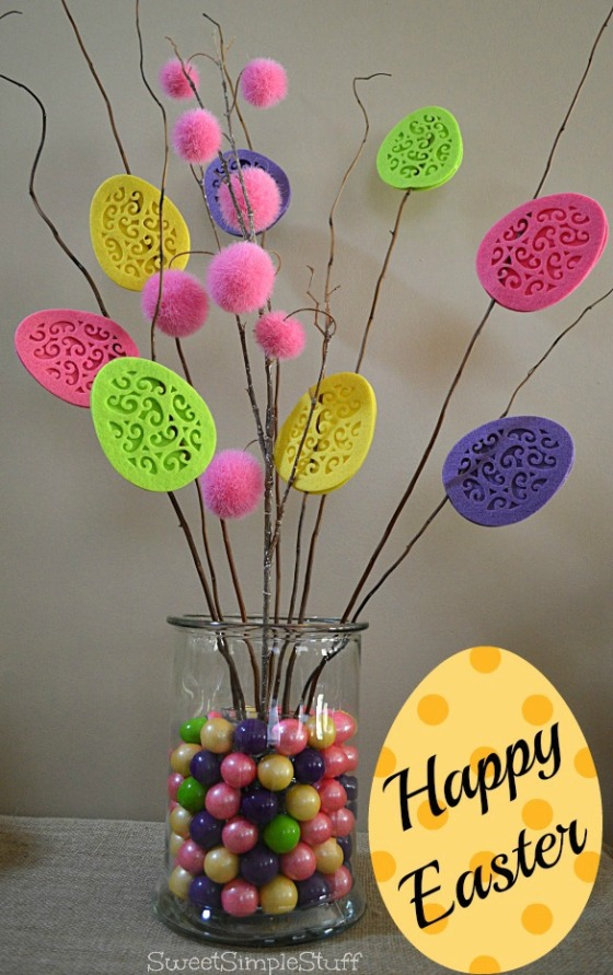 Happy Easter Centerpiece by SweetSimpleStuff