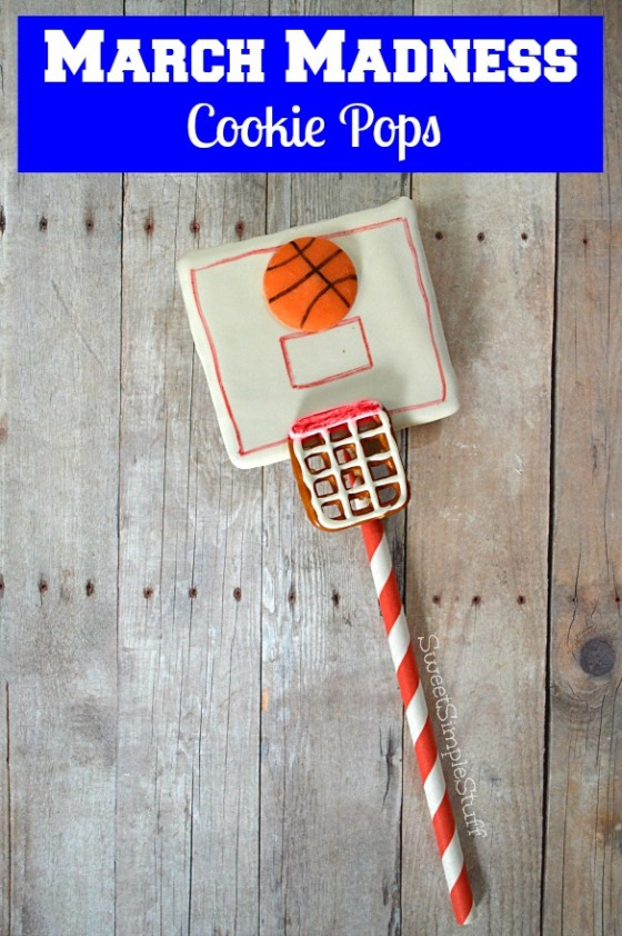 March Madness Cookie Pops by SweetSimpleStuff