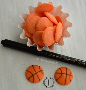 Orange Candy Basketballs by SweetSimpleStuff