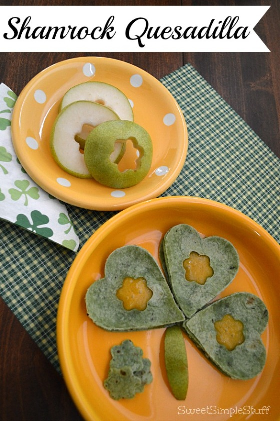 Shamrock Quesadilla for St. Patrick's Day by SweetSimpleStuff