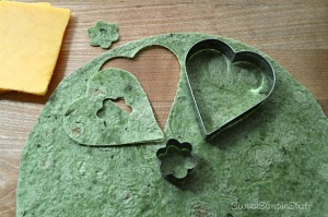Shamrock spinach quesadilla by SweetSimpleStuff