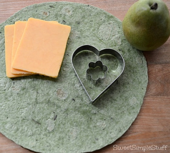 Shamrock spinach tortilla quesadilla  by SweetSimpleStuff
