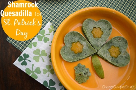 St. Patrick's Day Shamrock Quesadilla by SweetSimpleStuff