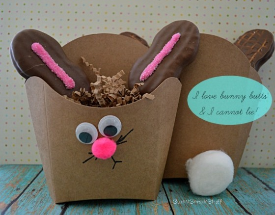 French Fry Box Bunny Butt by SweetSimpleStuff