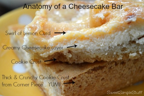 Anatomy of a Cheesecake Bar by SweetSimpleStuff