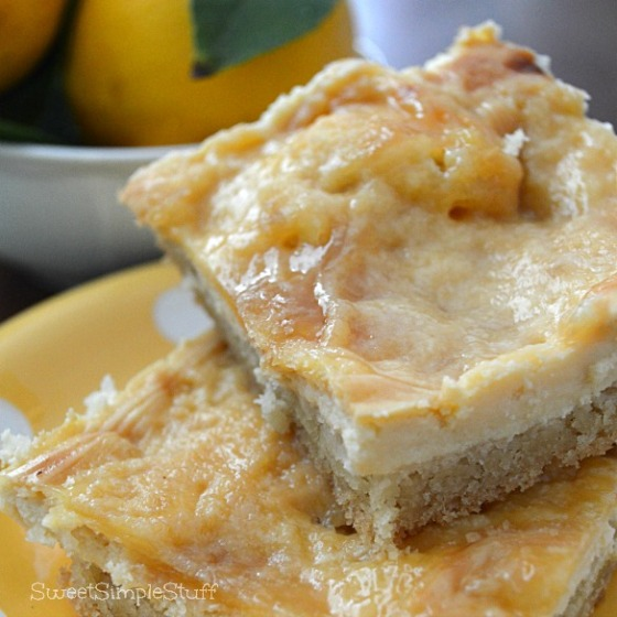 Cheesecake Bars with Sugar Cookie Crust by SweetSimpleStuff